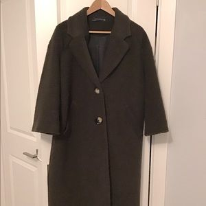 Brown cozy Zara coat
